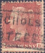 1855 1d Red SG24 Plate 4 'DB'
